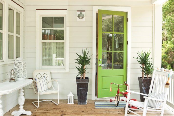 Green Door Paint Color Ideas. 1. Valspar Sassy Green & 27 Best Front Door Paint Color Ideas - Home Stories A to Z pezcame.com