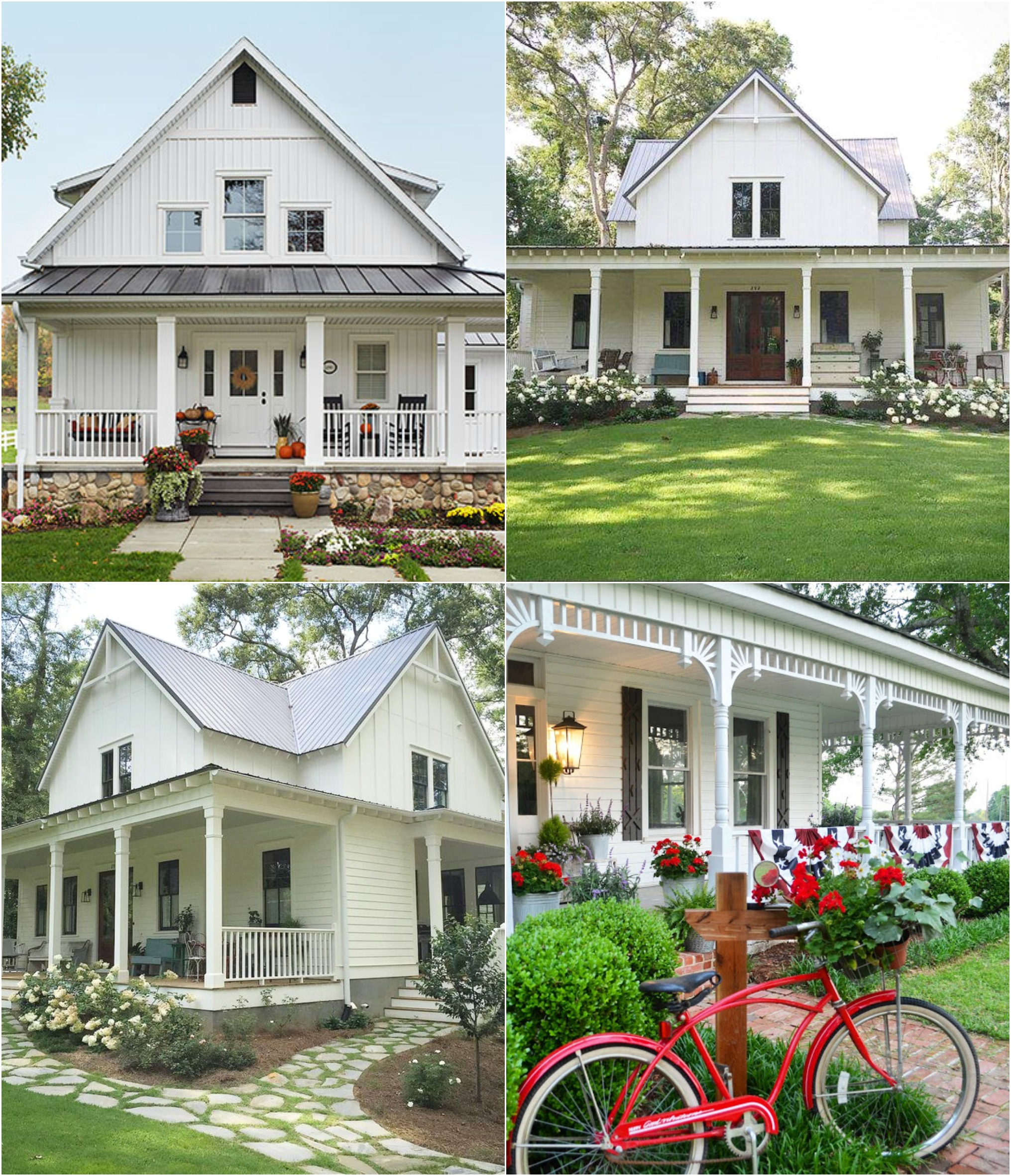 15 beautiful white farmhouses home stories a to z for Farmhouse homes