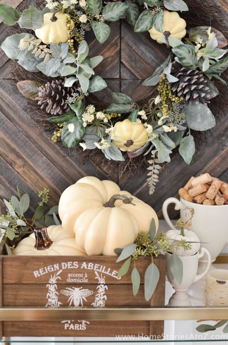 Diy home decor fall home tour home stories a to z Fall home decorating ideas diy