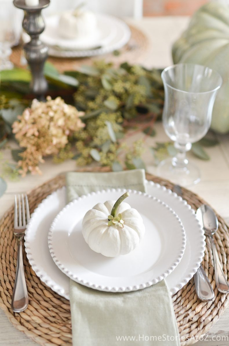 Diy home decor fall home tour home stories a to z for Table centerpieces for home