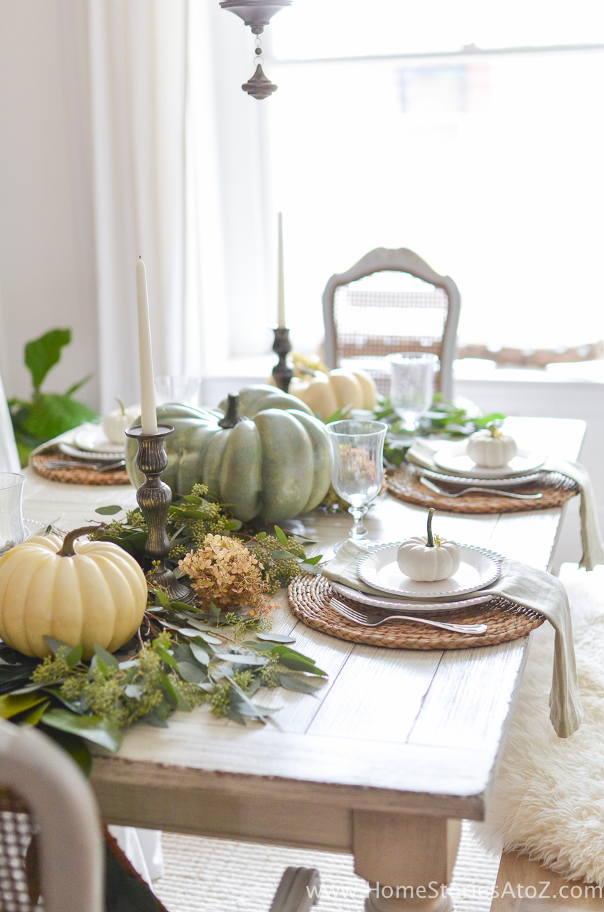 Diy home decor fall home tour home stories a to z for Dining room decor 2016