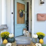 Yellow and Green Fall Porch
