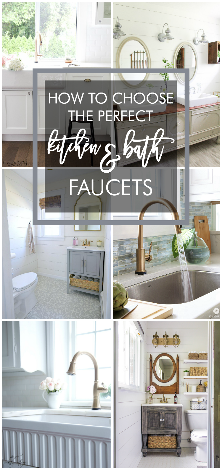 How to Choose the Perfect Kitchen and Bath Faucets - Home Stories A to Z