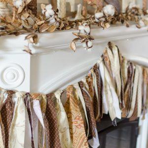 diy banner fabric scrap garland