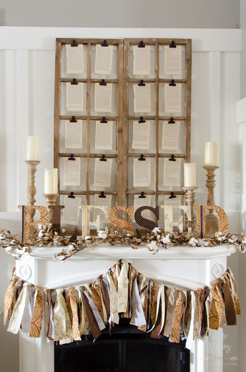 how-to-make-fabric-covered-letters thanksgiving mantle idea