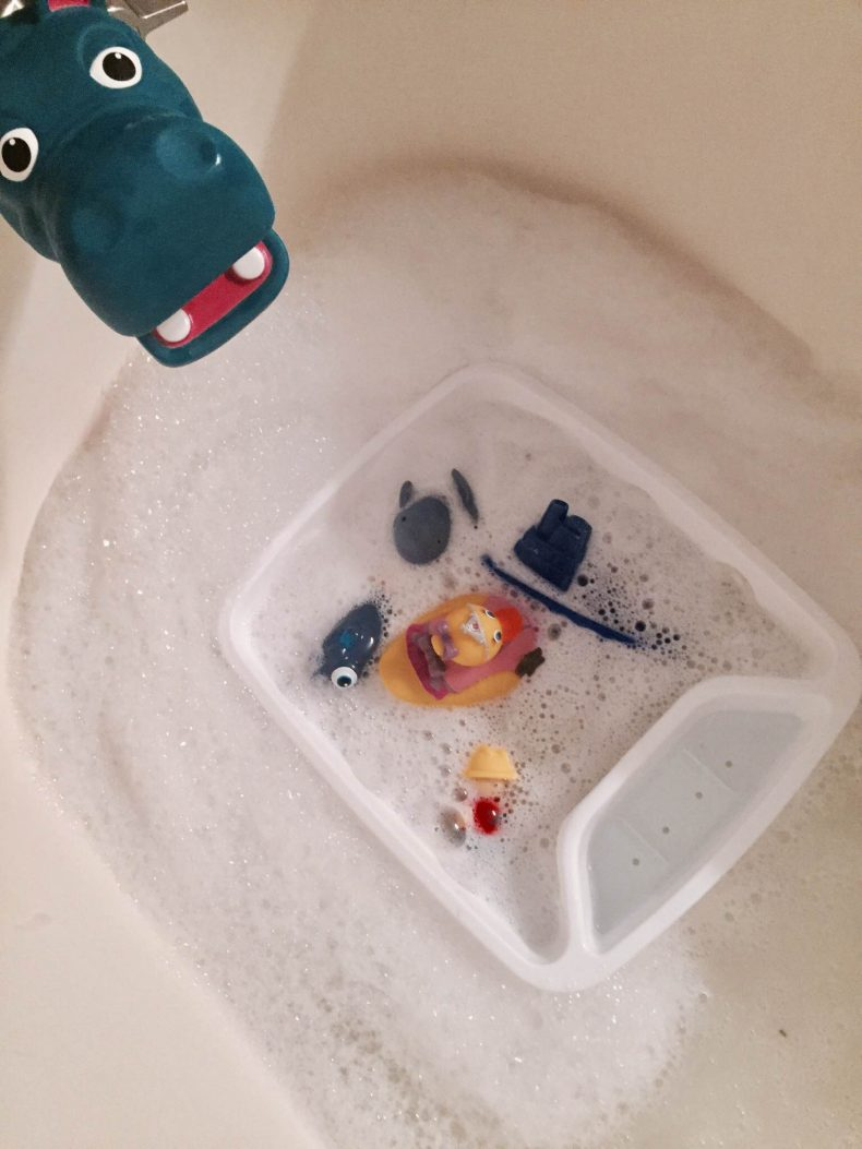 Bath Toy Storage Hack