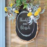Fall Door Decor: How to Make a Chalkboard Wood Slice Craft