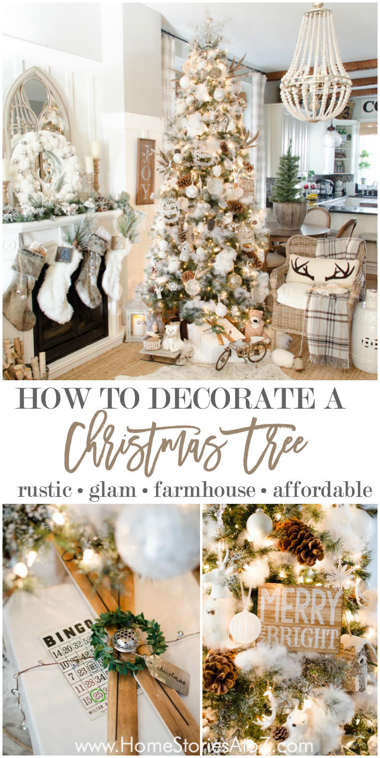 10 tips on how to decorate a christmas - Farmhouse Christmas Tree Decorations