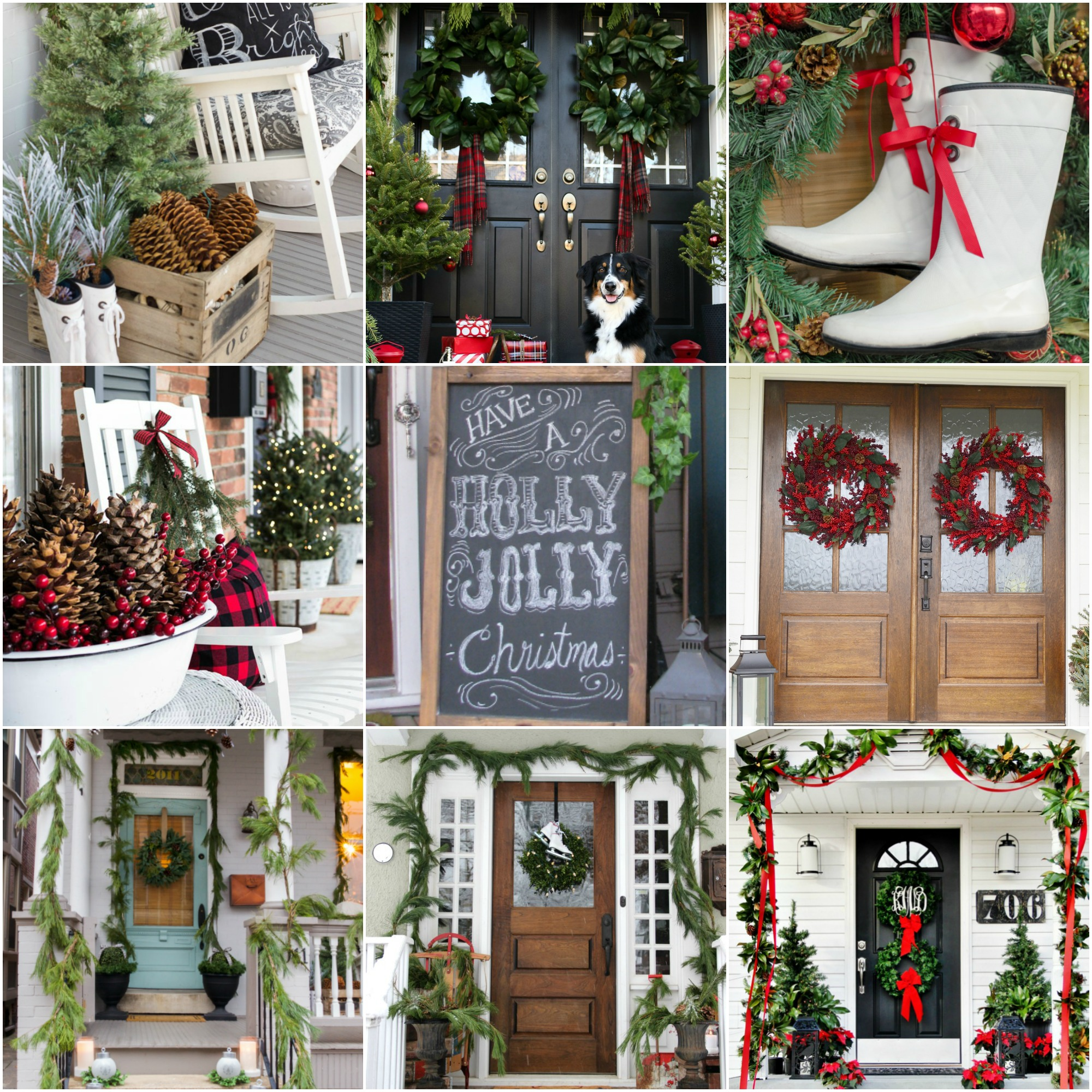 Christmas Diy Decorating Ideas: 20 Beautiful Christmas Porch Ideas {DIY Christmas Decorating}