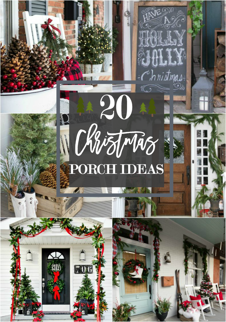 christmas porch ideas front porch christmas - Christmas Porch Decor
