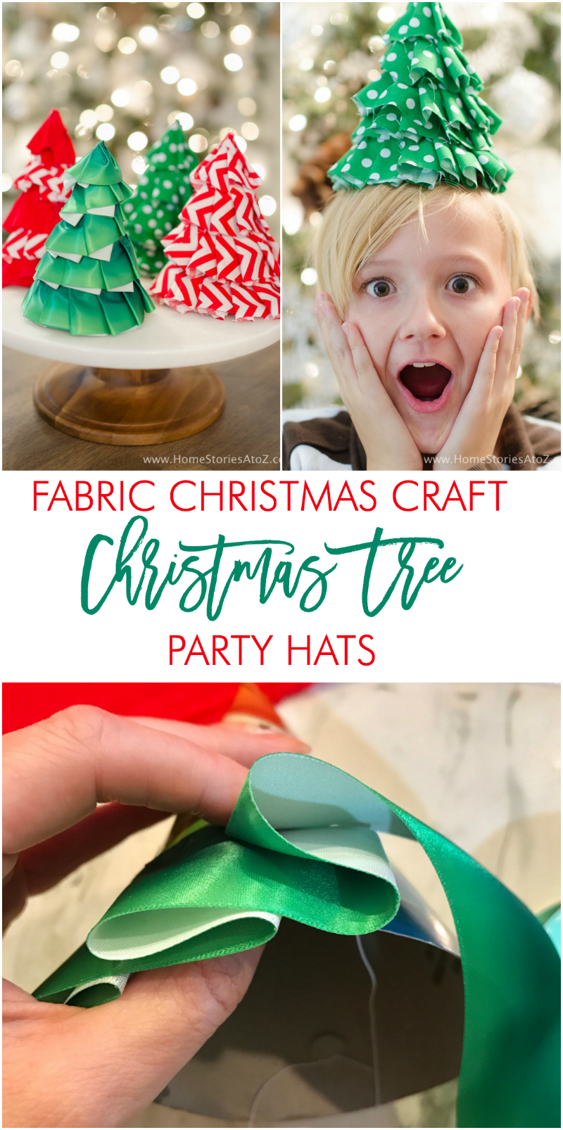 holiday craft idea fabric craft idea diy tree hats 2184