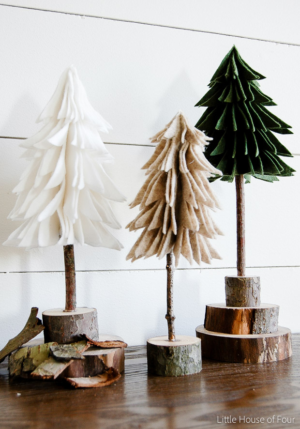 christmas craft ideas diy felt christmas trees