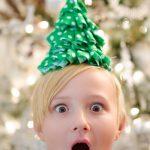 Fabric Christmas Craft Idea: DIY Christmas Tree Party Hats
