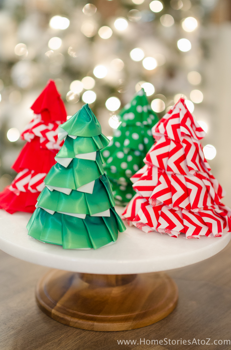 Fabric Christmas Craft Idea: DIY Christmas Tree Party Hats