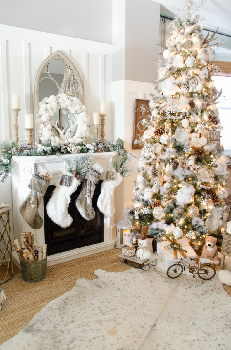 how to decorate a christmas tree rustic glam - Order Of Decorating A Christmas Tree