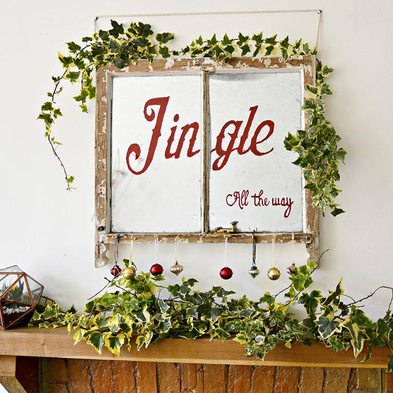 Christmas craft idea old window ideas