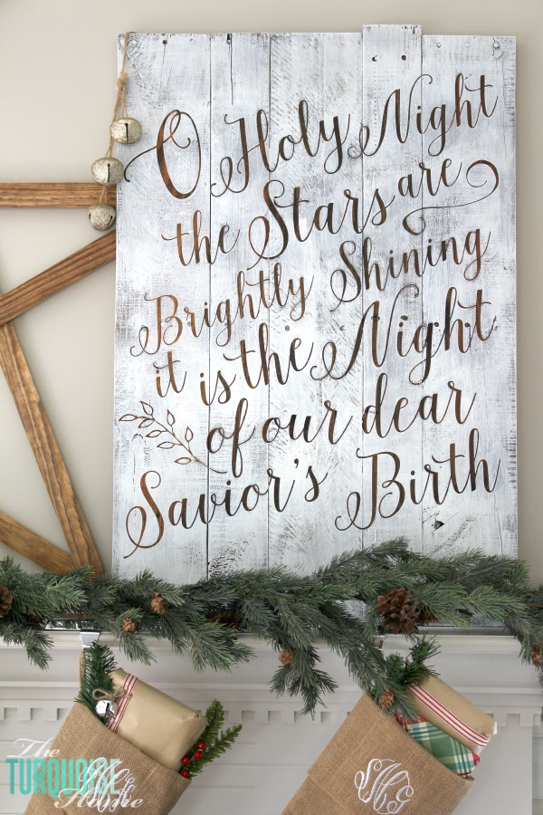 christmas sign tutorial craft
