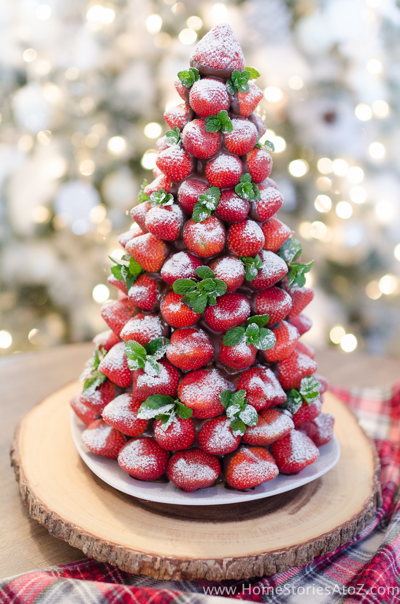 Chocolate Covered Strawberry Christmas Tree | Christmas Dinner Ideas Guaranteed To Make The Night Memorable