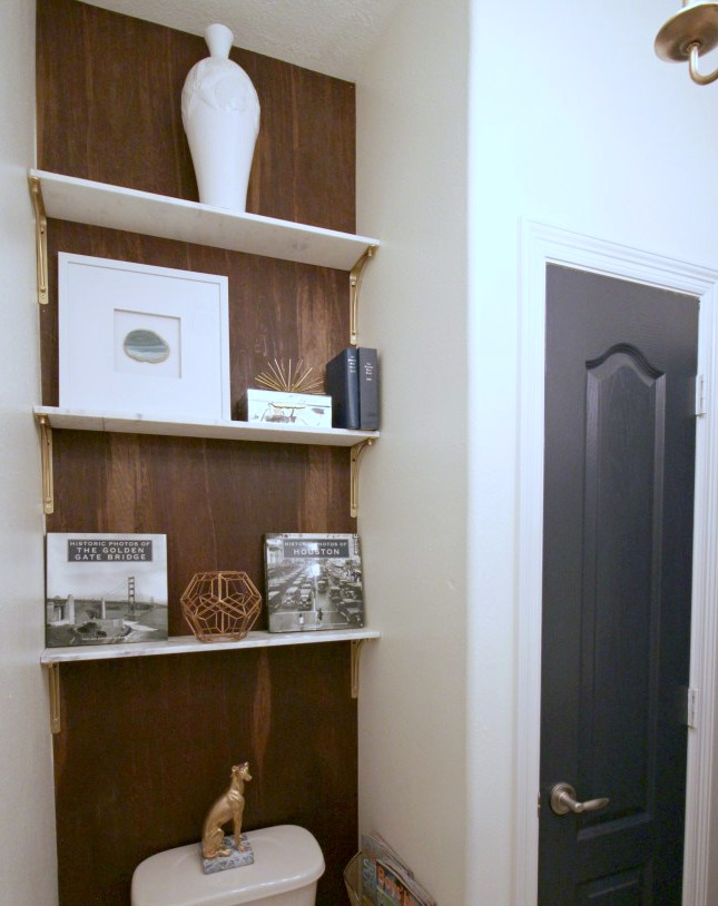 Popular small bathroom ideas shelving
