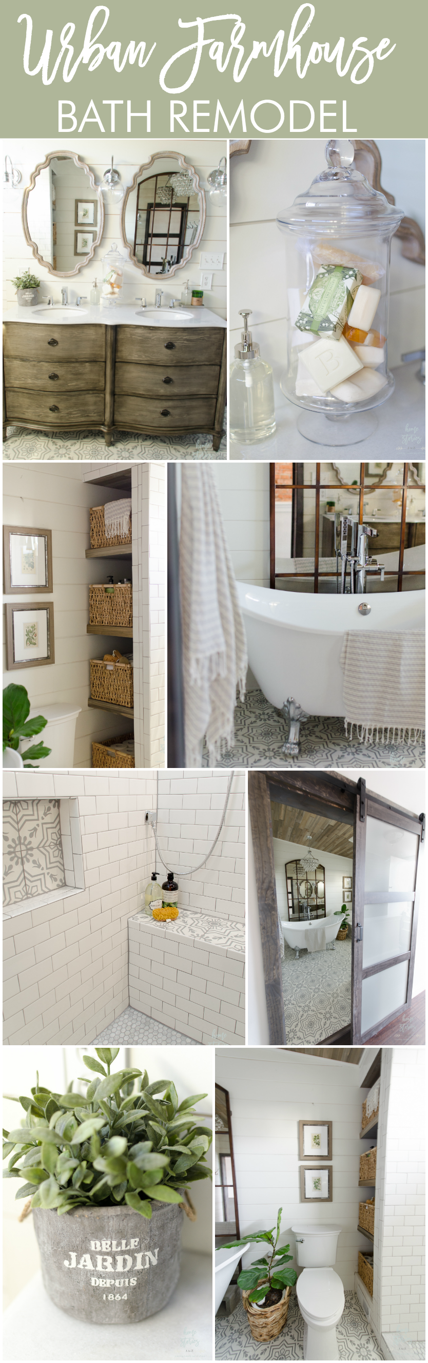 Unique Urban Farmhouse Master Bathroom Remodel