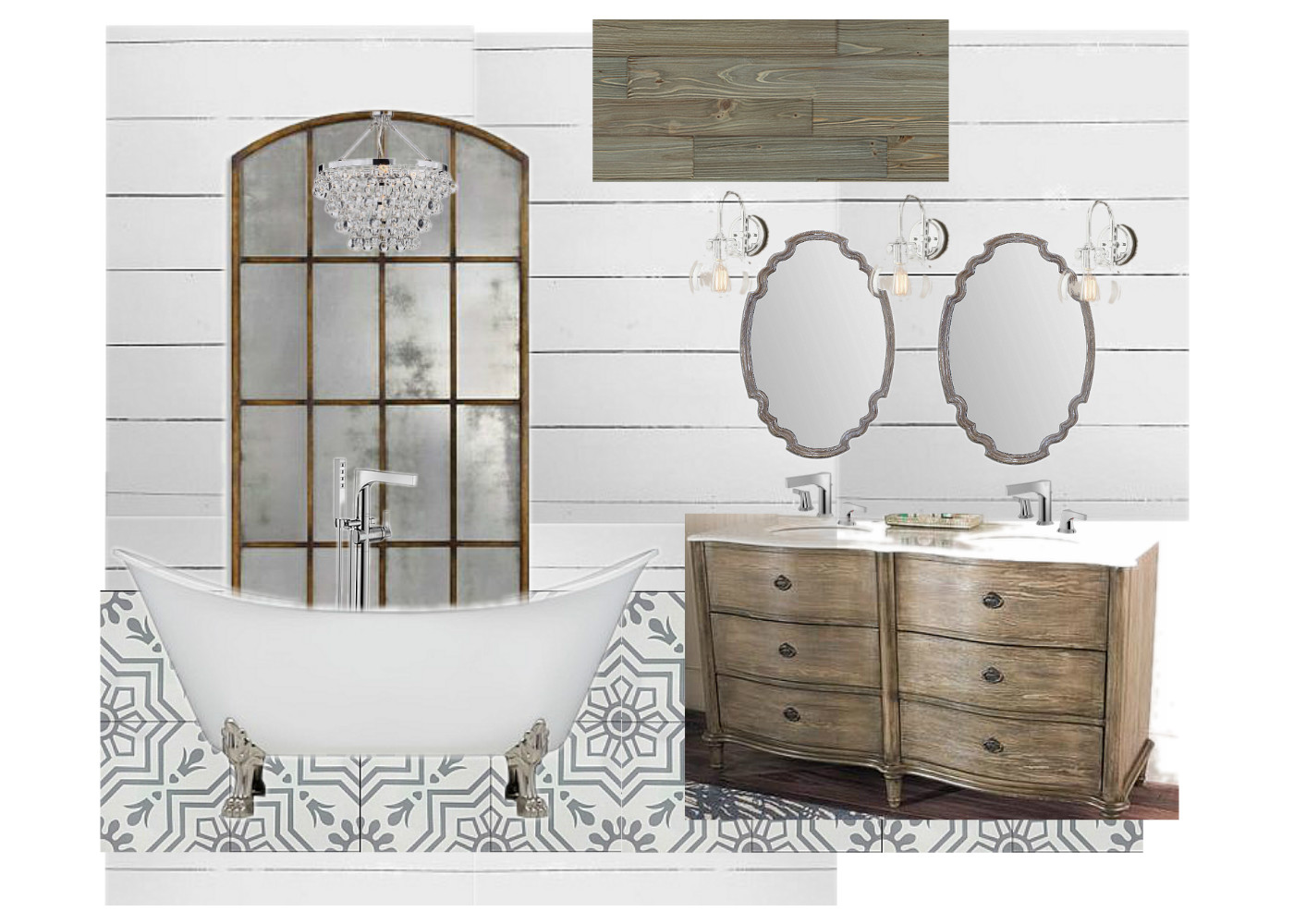 Urban Farmhouse Master Bathroom Remodel