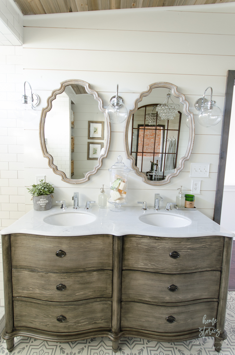 Urban Farmhouse Master Bathroom Remodel on Farmhouse Bathroom Remodel Ideas  id=54154