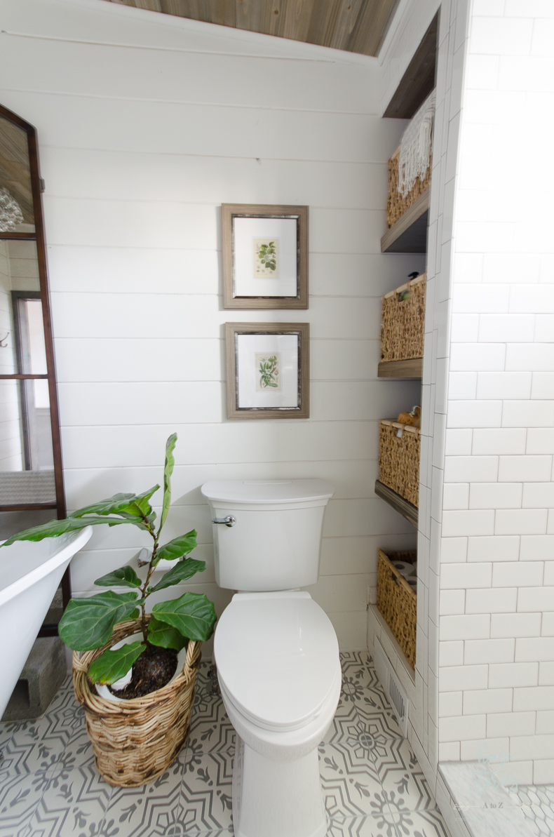 Beautiful urban farmhouse master bathroom remodel for Bathroom bathroom bathroom