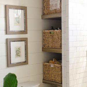 Simple  How to Build Bathroom Shelves Next to Shower