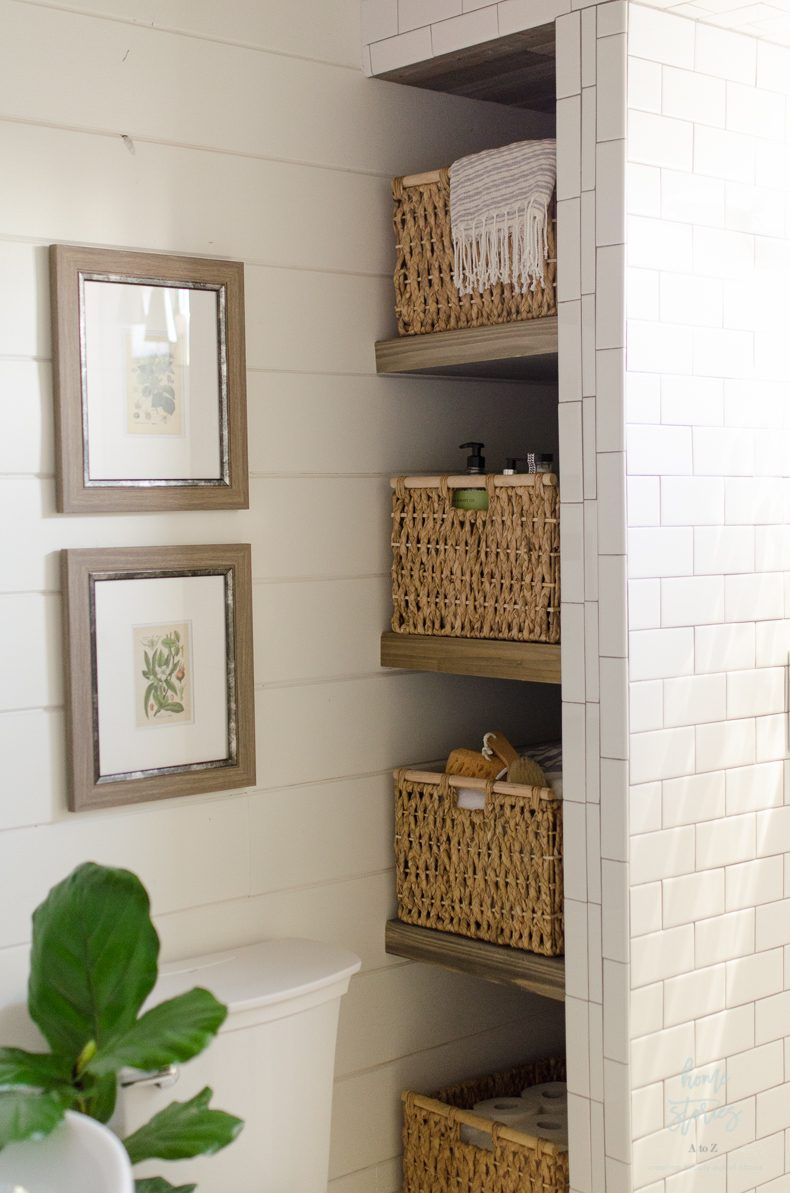 Bathroom Shelves Next To Shower