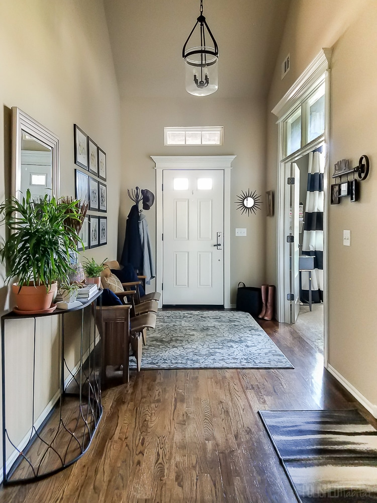 Sunken Foyer Home Decor : Real life mudroom and entryway decorating ideas by
