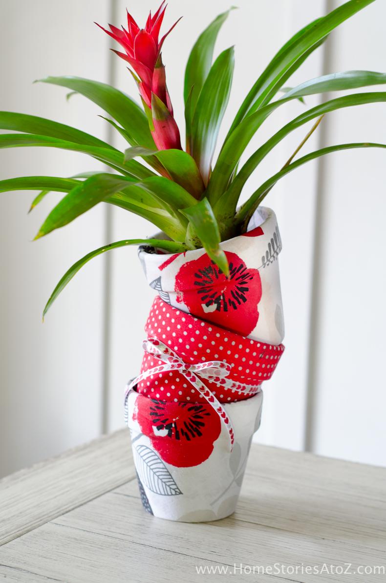 How To Mod Podge Flower Pots