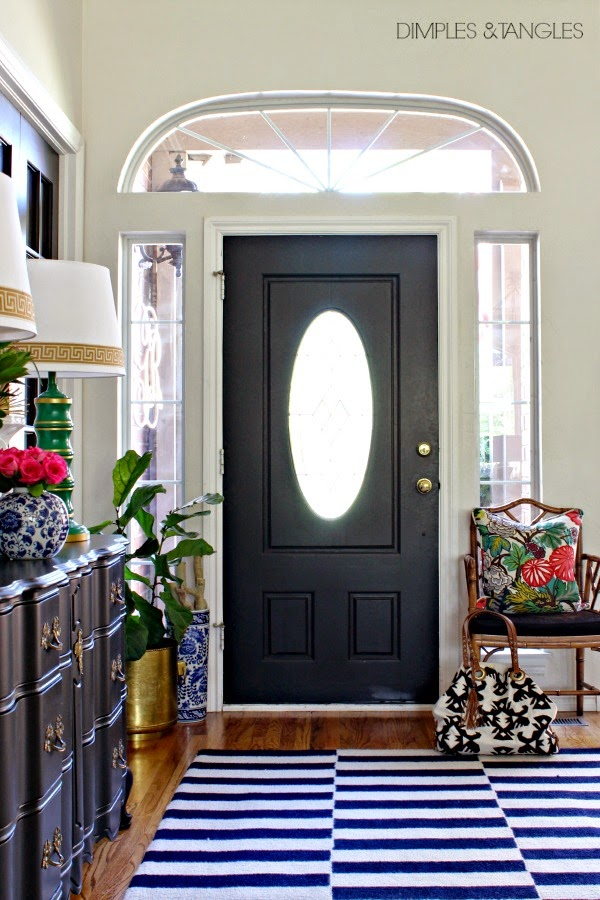 eclectic glam entryway