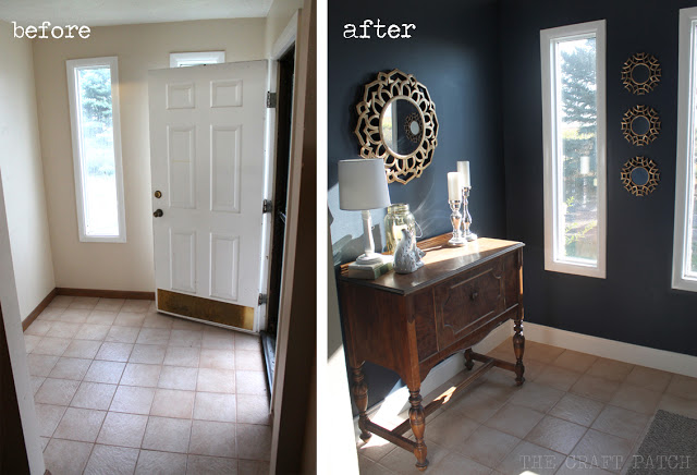 Modern Navy Foyer Makeover By The Craft Patch