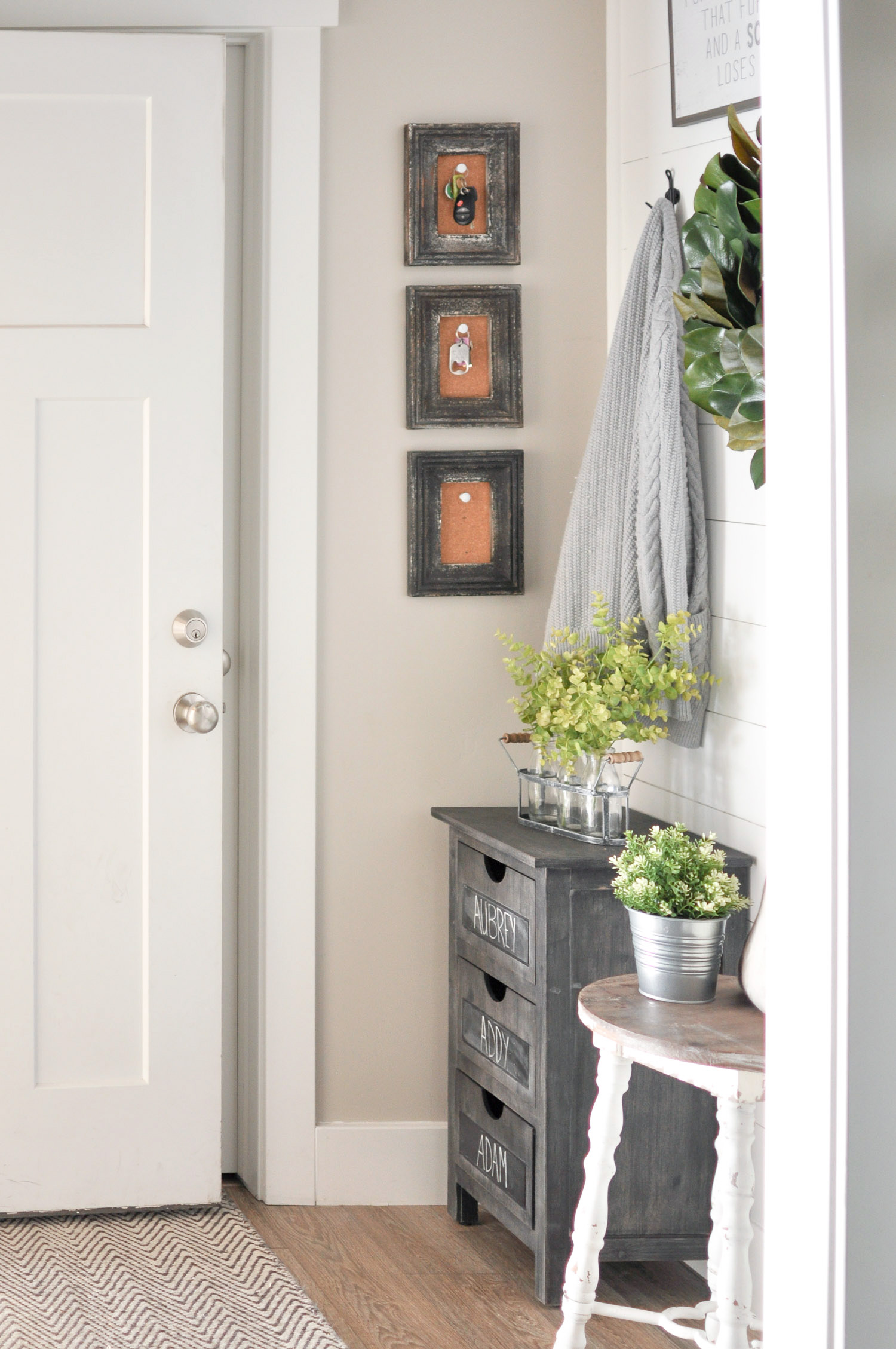 small mudroom makeover idea by cherished bliss