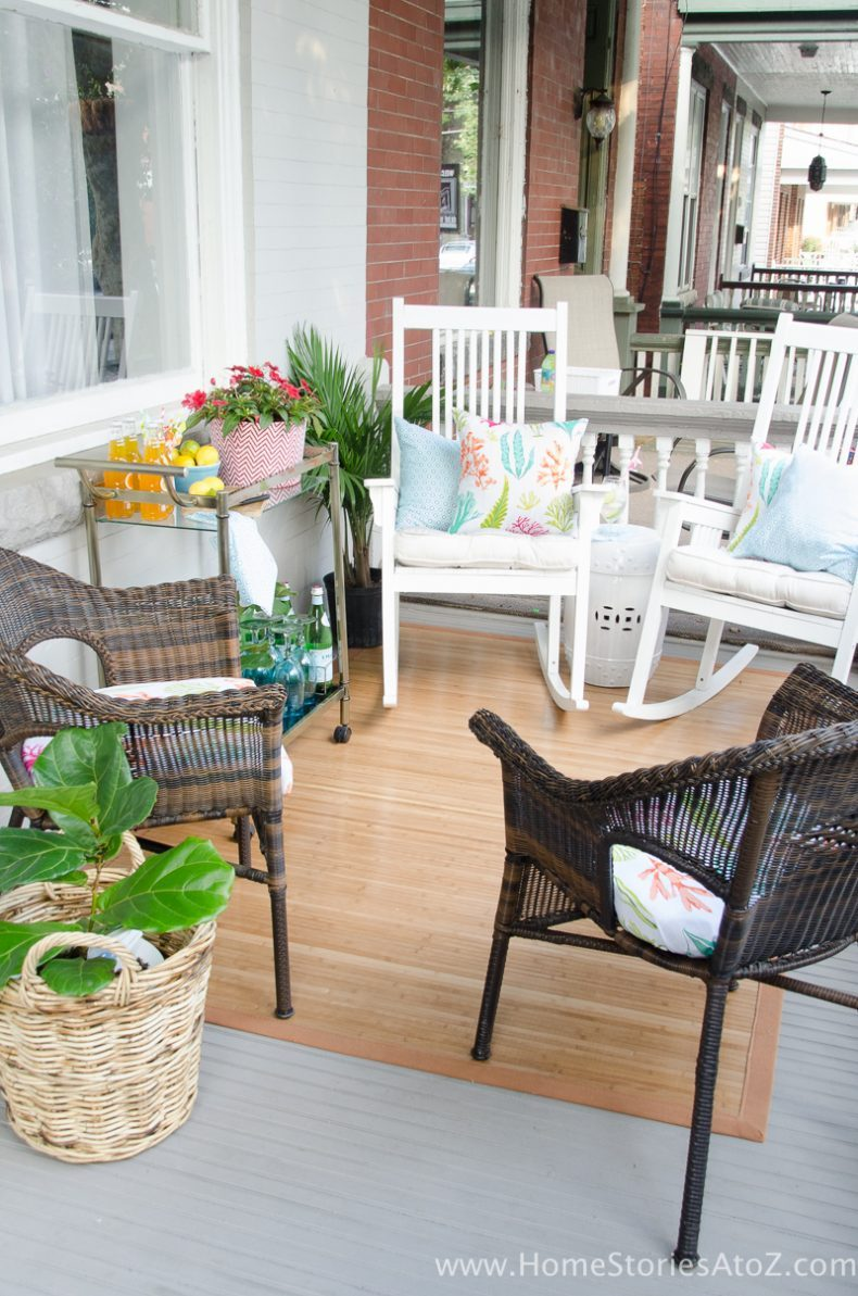 Look For Durable And Easy To Clean Porch Furniture That Will Take Your Through All Seasons White Or Black Rockers Faux Wicker Are Wonderful