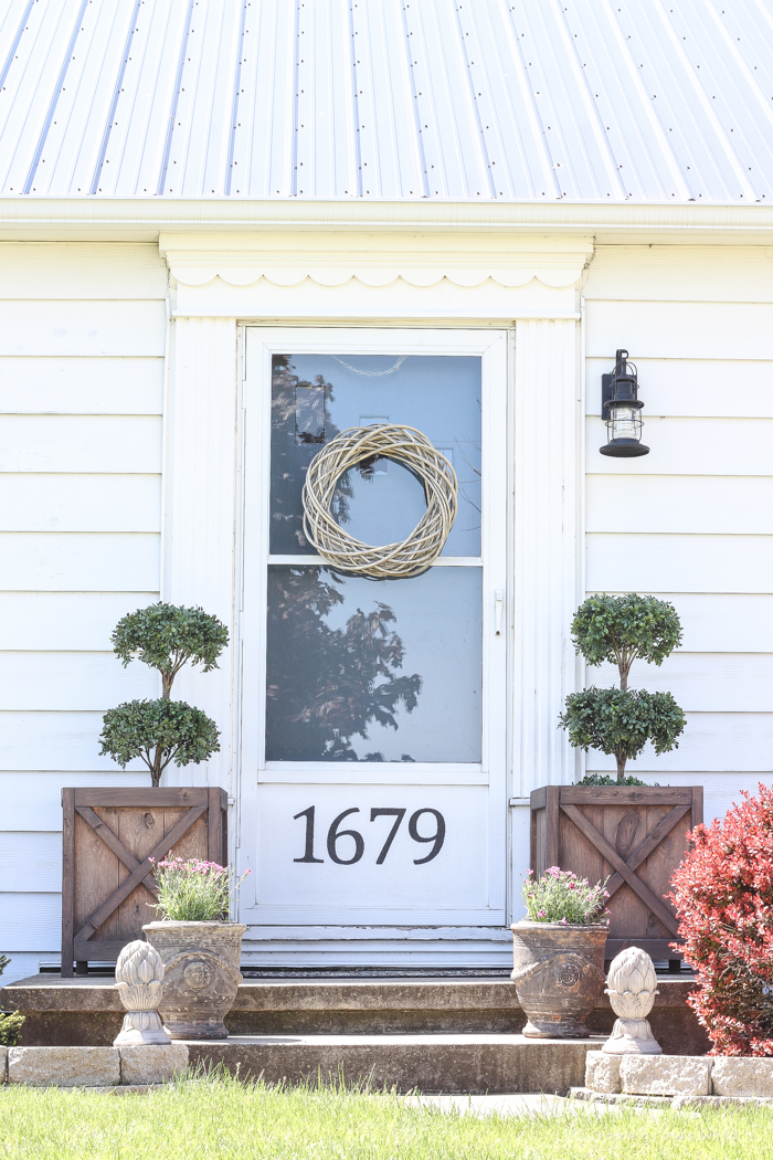 Beautiful Planters Spring Porch By LOVE GROWS WILD