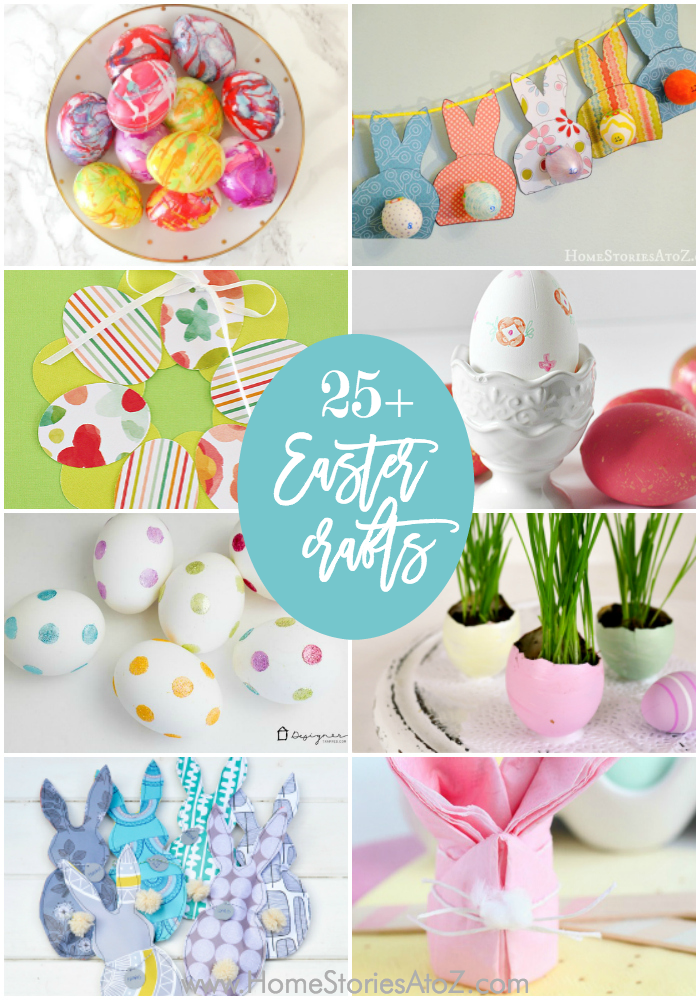 25+ Easy Easter Crafts and Easter Home Decor Crafts