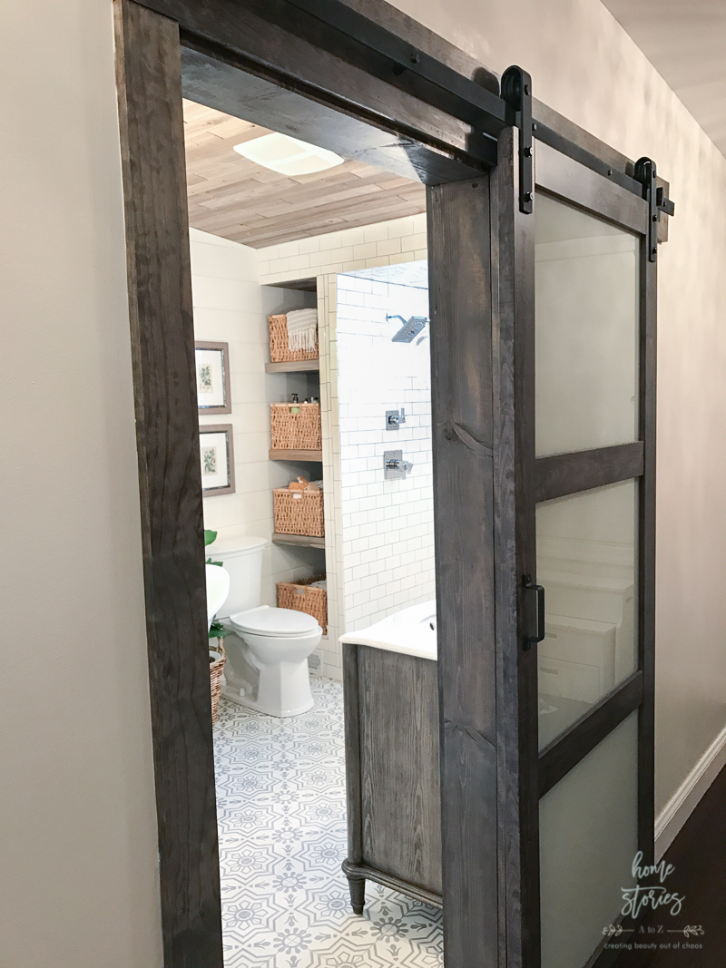 if you decide to purchase the ironaged grey 3lite frosted glass barn door and want to stain the surrounding wood to match you now have the secret formula