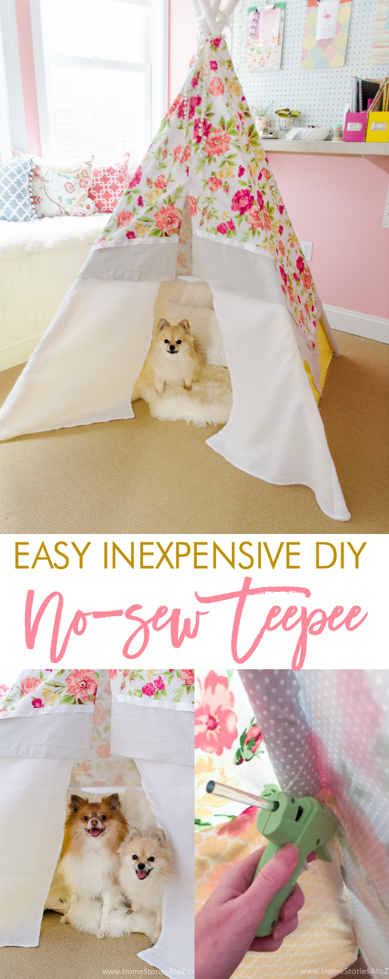 DIY no sew teepee tutorial diy teepee