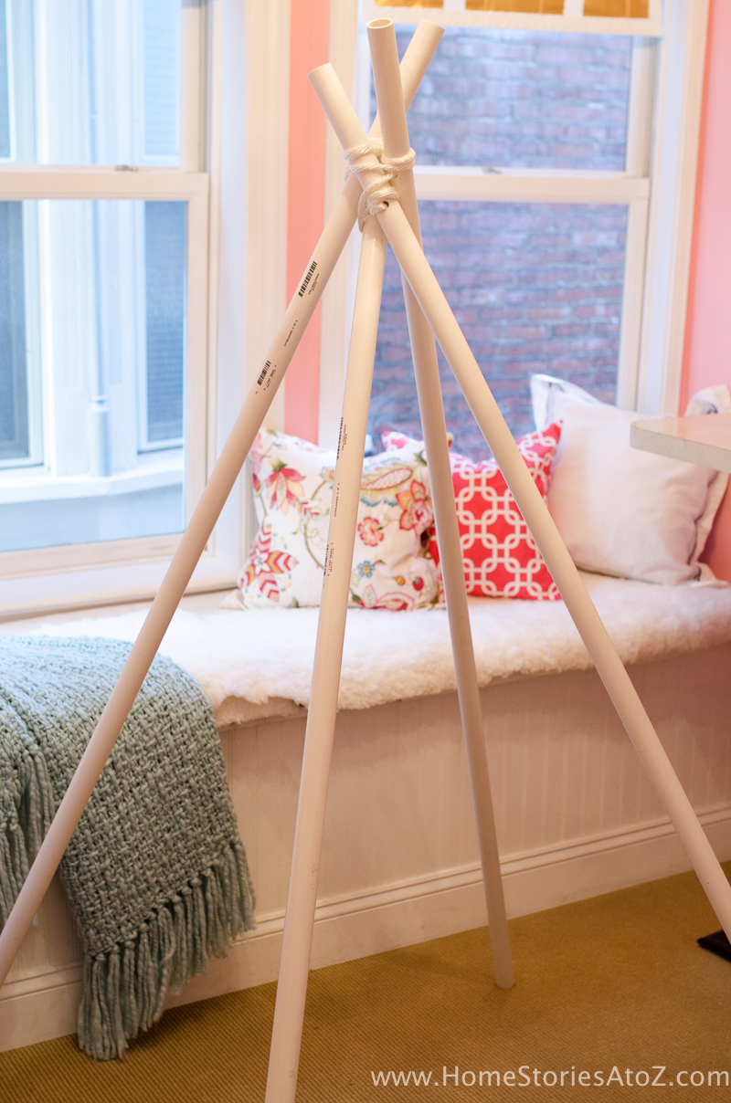 DIY Teepee No Sew Step 3 Determine size of teepee base. & DIY Teepee No Sew - Home Stories A to Z