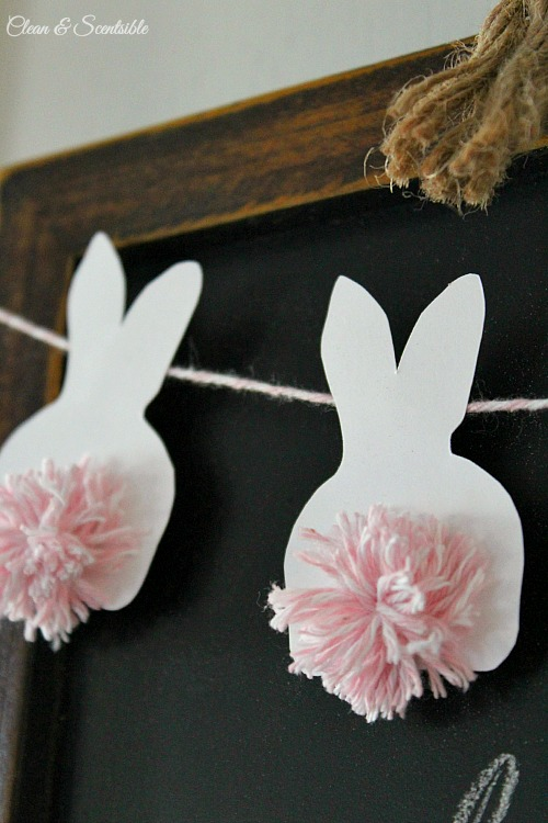25 easy easter crafts and easter home decor crafts easter bunting by clean and scentsible negle Gallery