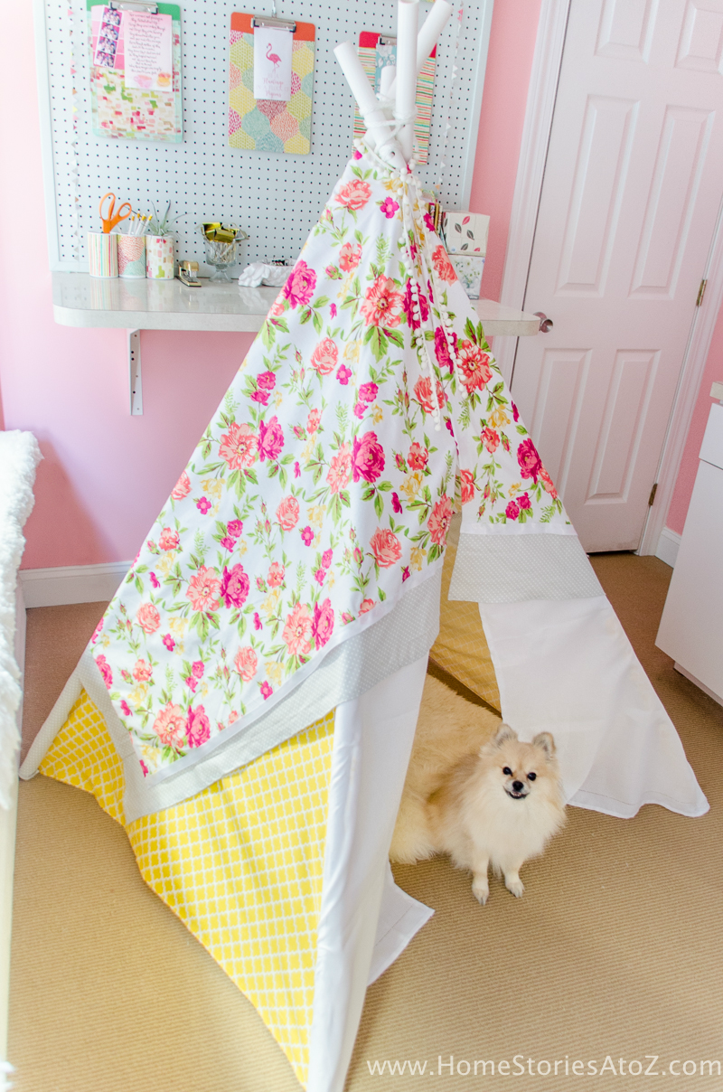 Easy DIY no sew teepee tutorial