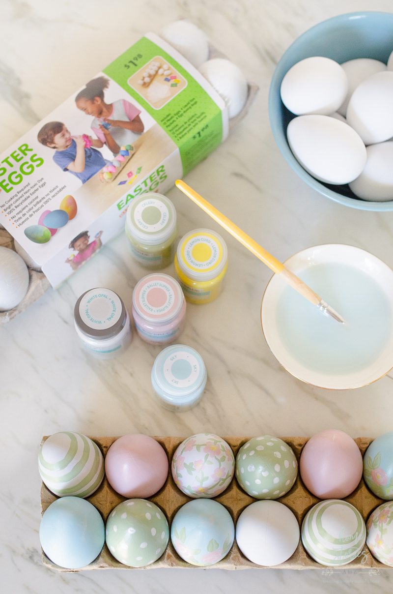 How to Paint Easter Eggs supplies