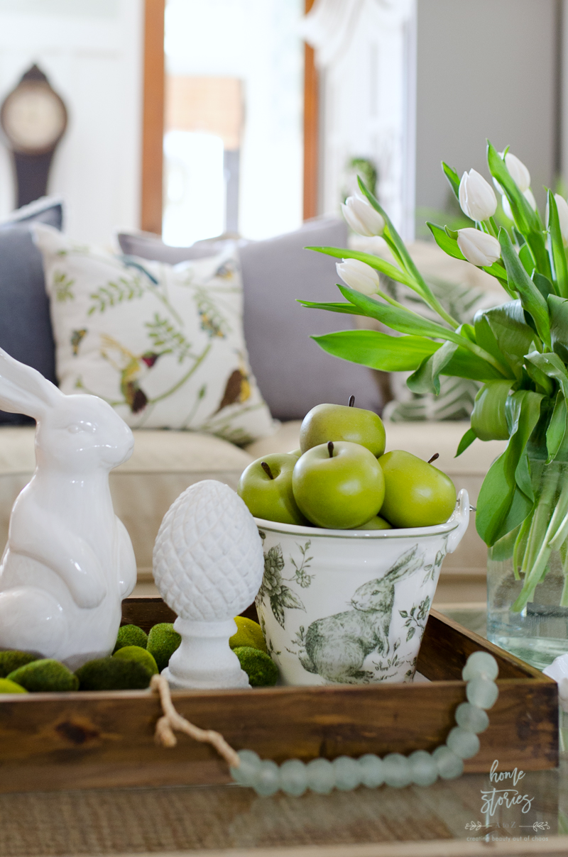 Spring Home Decor Ideas Part - 37: Spring Decorating Ideas Easter Vignette Spring Home Tour