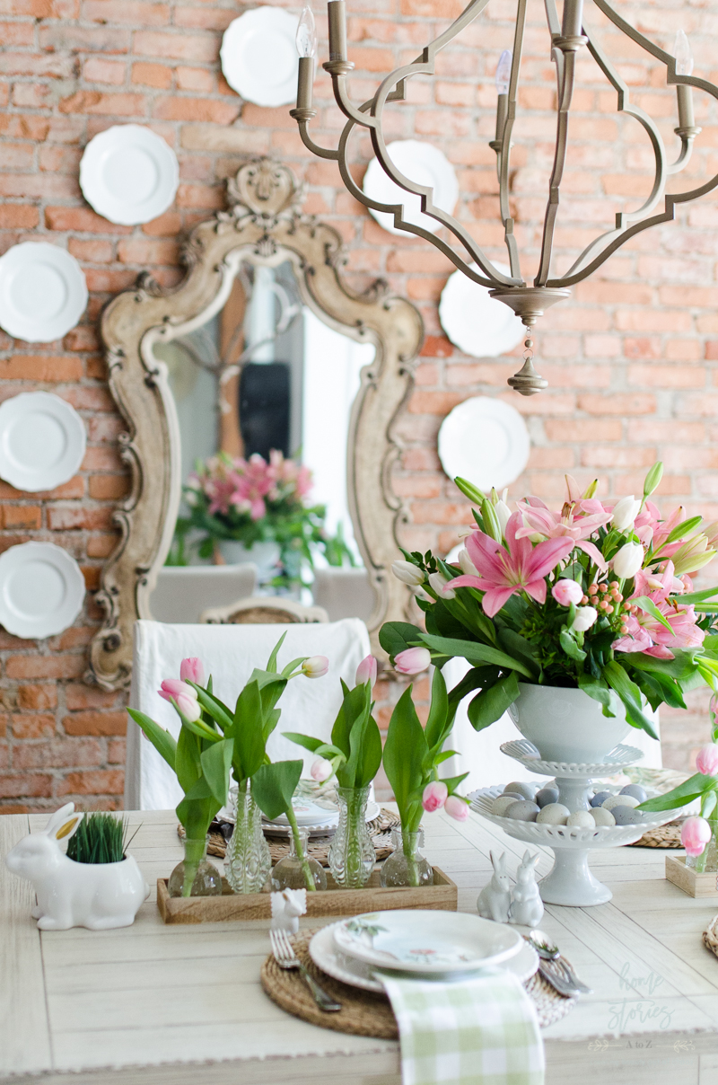 Spring Dining Room Spring Decorating Ideas Easter Table With Spring Decor  Ideas.