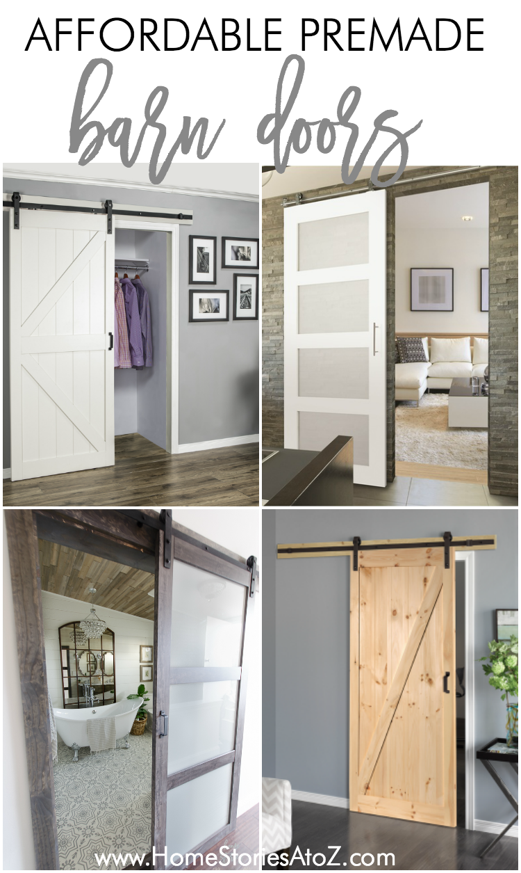 affordable premade barn doors