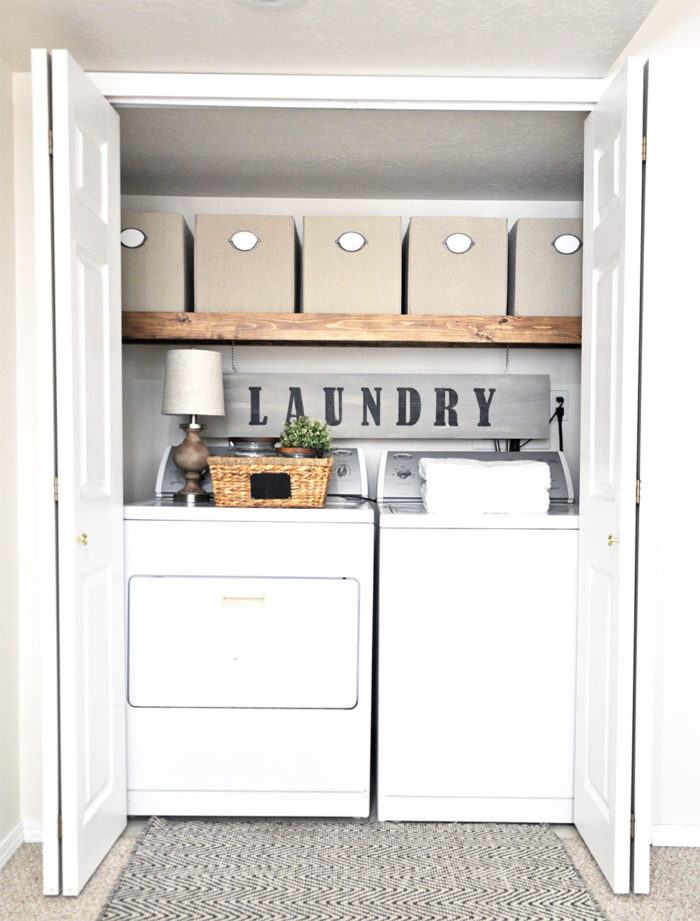 beautiful laundry room closet