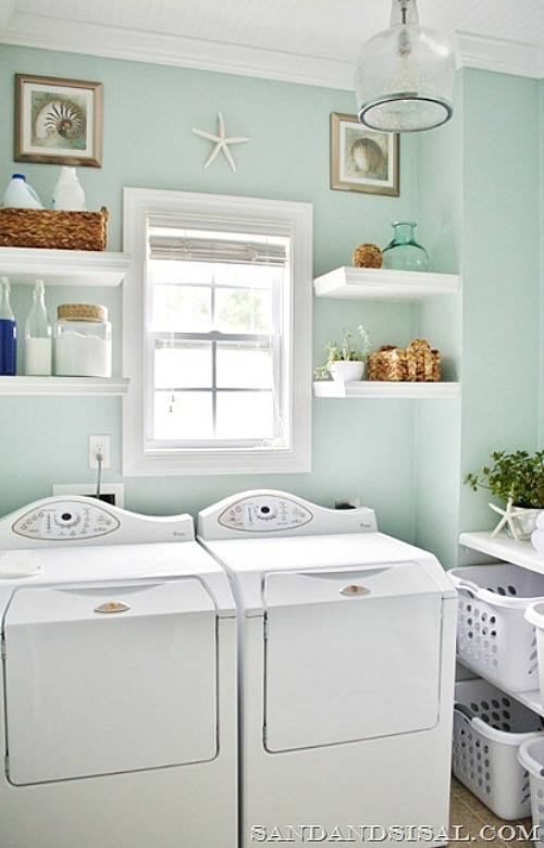 beautiful laundry room decorating