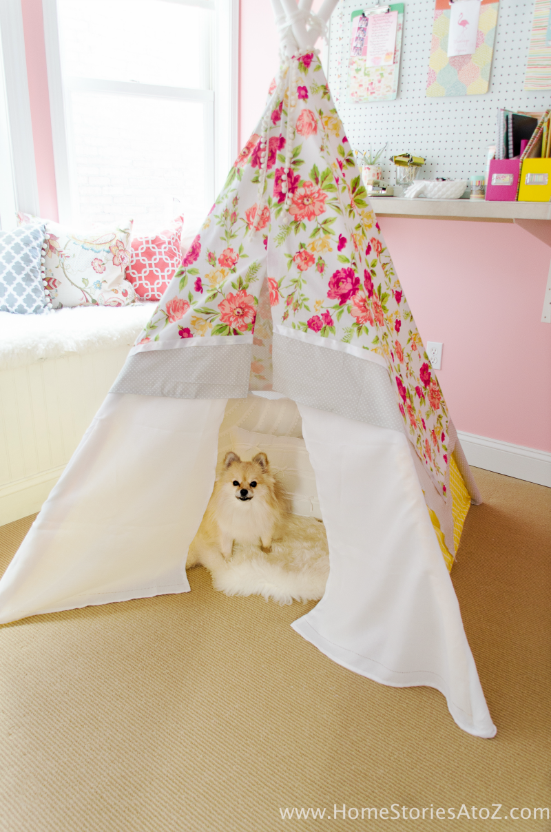 easy no-sew teepee tutorial inexpensive DIY teepee
