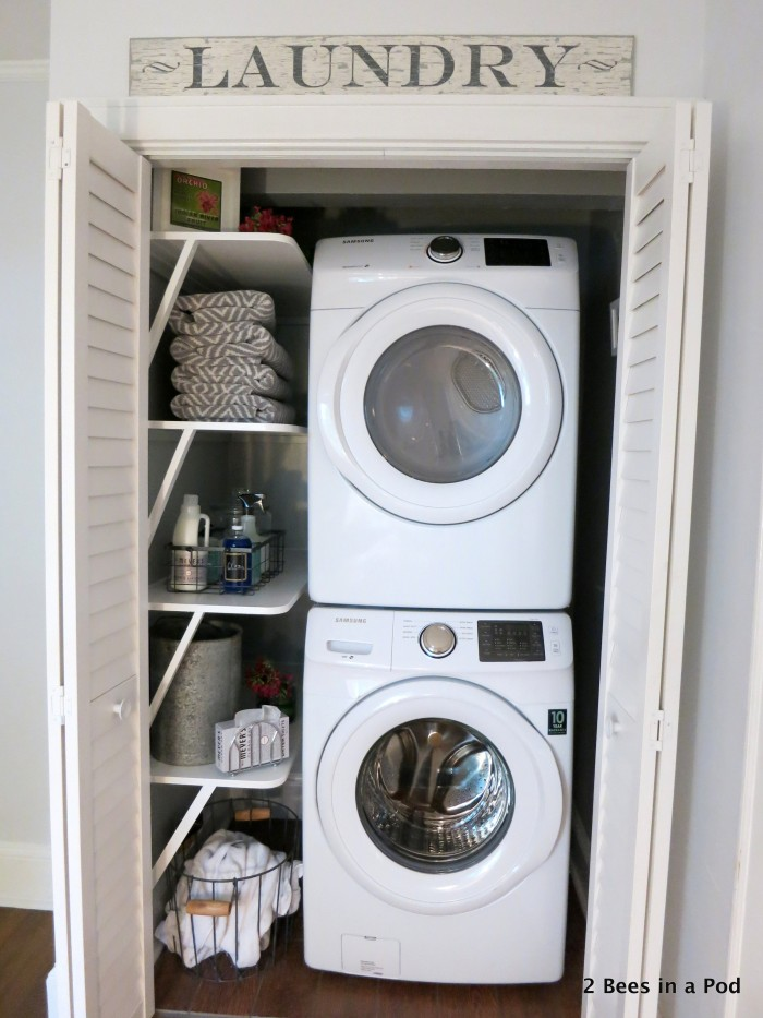 beautiful laundry room closet idea